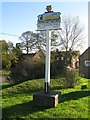 TG0433 : Melton Constable Village Sign by G Laird