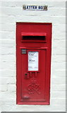 TF8037 : George VI postbox on Burnham Road, Stanhoe by JThomas