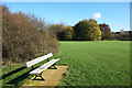 TQ1187 : Bench in Roxbourne Park by Des Blenkinsopp