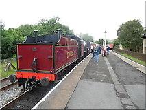 SD8022 : Train at Rawtenstall Station, Lancs by David Hillas