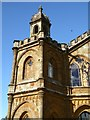 SP6737 : Detail of the Gothic Temple, Stowe Park by Philip Halling
