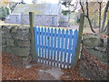 NJ6906 : Wicket gate entrance to Midmar churchyard by Stanley Howe