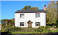 SO3620 : White cottage in Llangattock Lingoed by Jaggery