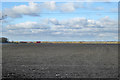 TL2255 : View north over a brown field by Robin Webster
