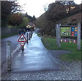 SO4494 : Carding Mill Valley and Long Mynd information board, Church Stretton by Jaggery