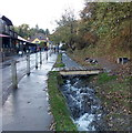 SO4494 : Wooden footbridge over a vigorous stream, Carding Mill Valley, Church Stretton by Jaggery