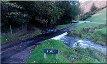 SO4494 : Ford in Carding Mill Valley, Church Stretton by Jaggery