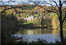 NT4227 : The Upper Lake at Bowhill Estate by Walter Baxter