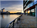 SJ8097 : Manchester Ship Canal at Sunset by David Dixon