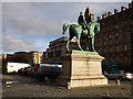 SJ3490 : Statue of Prince Albert outside St George's Hall by Stephen Craven