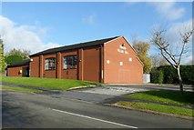 SK3030 : Findern Village Hall by Alan Murray-Rust