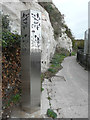 TR3241 : Sculpture D, Saxon Shore Way/White Cliffs County Trail by John Baker