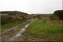 NU0541 : Farm road, Mount Hooley by Richard Webb