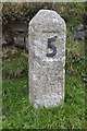 SW3932 : Milestone on the B3318 by Philip Halling