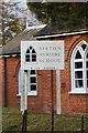 TM3669 : Sibton Nursery School sign by Adrian Cable