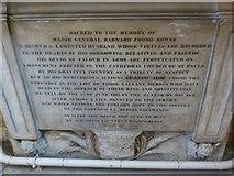 TA0339 : Beverley Minster: memorial (33) by Basher Eyre