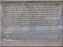 TA0339 : Beverley Minster: memorial (40) by Basher Eyre