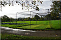 SP1622 : Cricket nets at Church Furlong by Bill Boaden
