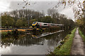 SJ8936 : Trent & Mersey Canal and Train by Brian Deegan