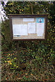 TM3671 : Sibton Green Village Notice Board by Adrian Cable
