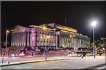 SJ3490 : St George's Hall, Liverpool at night by Matt Harrop
