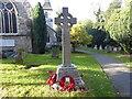 TQ4871 : War memorial in North Cray Churchyard by Marathon