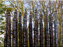 SO9596 : Steel Columns (sculpture) in Bilston, Wolverhampton by Roger  Kidd