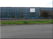 ST3186 : Tirion and Walters notice on a Mendalgief Road fence, Newport by Jaggery