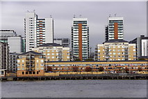 TQ3880 : Blackwall from across the Thames at North Greenwich by Mike Pennington