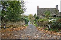 SP2225 : Narrow lane in Upper Oddington by Bill Boaden