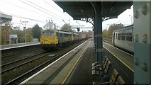 TM1543 : Container train passes through Ipswich station by Christopher Hilton