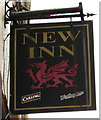 SS9497 : New Inn name sign, Baglan Street, Treherbert by Jaggery
