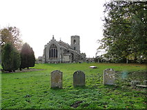 TF5002 : Upwell St. Peter's church from the graveyard by Adrian S Pye
