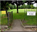 ST5394 : In the interest of Hygiene, NO DOGS ALLOWED in Tutshill recreation ground by Jaggery