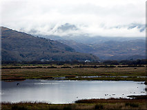 SH5838 : A view towards Snowdon across Afon Glaslyn by John Lucas