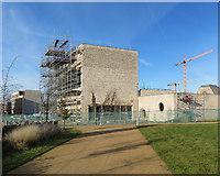 TL4259 : Eddington: building Storey's Field Centre by John Sutton