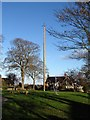 NZ1314 : Ovington green and maypole by Gordon Hatton
