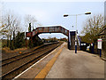 SD7367 : Footbridge at Clapham Railway Station by David Dixon