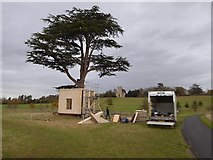 SO8844 : Constructing a tree house in Croome Park by Philip Halling
