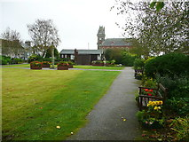 NX4355 : The park between North and South Main Streets, Wigtown by Humphrey Bolton