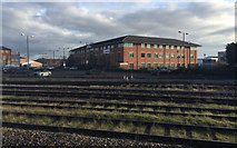 SK3635 : A view east from platform 6A, Derby station by Robin Stott