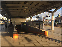 SK3635 : Ramp to subway for motorised trolleys, Derby station by Robin Stott
