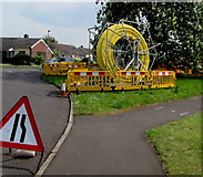 ST3049 : Yellow coil, Westfield Drive, Burnham-on-Sea by Jaggery