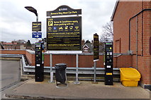TL1314 : Bowers Way West Car Park Pay Station by Adrian Cable