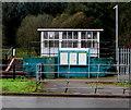 SS9497 : Information boards outside Ynyswen railway station by Jaggery