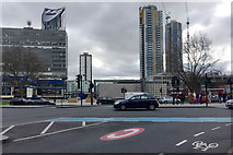 TQ3179 : Looking south across the remodelled Elephant and Castle, south London by Robin Stott