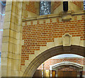SX8752 : Brickwork in chapel, Britannia Royal Naval College  by David Hawgood