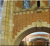 SX8752 : Brickwork in chapel, Britannia Royal Naval College  by David Hawgood