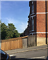 TQ3370 : Garden fence, Jasper Road, Crystal Palace, south London by Robin Stott