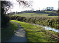 SK6631 : Towpath along the disused Grantham Canal by Mat Fascione